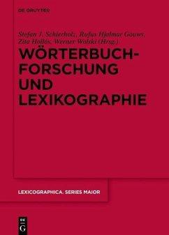Wörterbuchforschung und Lexikographie (eBook, PDF)
