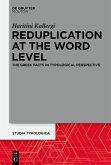 Reduplication at the Word Level (eBook, ePUB)