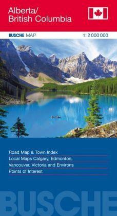 Busche Map Canada Alberta, British Columbia - Landkarten portofrei on