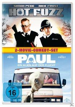 Hot Fuzz, Paul - Ein Alien auf der Flucht DVD-Box - Simon Pegg,Nick Frost,Jim Broadbent