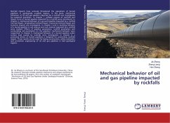 Mechanical behavior of oil and gas pipeline impacted by rockfalls