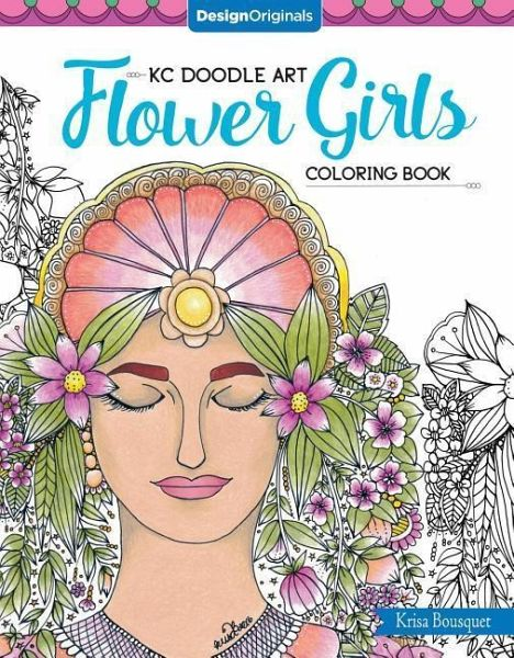 KC Doodle Art Flower Girls Coloring Book
