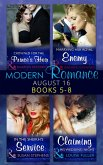 Modern Romance August 2016 Books 5-8: Crowned for the Prince's Heir / In the Sheikh's Service / Marrying Her Royal Enemy / Claiming His Wedding Night (eBook, ePUB)