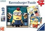 Ravensburger 08007 - Despicable Me, Ich einfach unverbesserlich, Minions, 3x49 Teile, Puzzle
