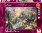 Schmidt 59475 - Thomas Kinkade, Disney Die Schöne und das Biest, Puzzle, 1000 Teile