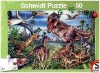 Schmidt 56193 - Bei den Dinosauriern Puzzles, 60 Teile