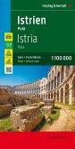 Freytag & Berndt Auto + Freizeitkarte Istrien - Pula, Top 10 Tips, Autokarte 1:100.000; Istria - Pula