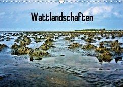 Wattlandschaften (Wandkalender 2017 DIN A3 quer)
