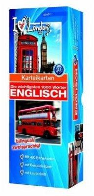 Karteikartenbox 1000 Wörter Englisch Niveau A1