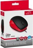 Speedlink - LEDGY Maus, 3-Tasten-Maus, wired, USB, schwarz/rot