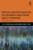 Critical Content Analysis of Children's and Young Adult Literature (eBook, PDF)