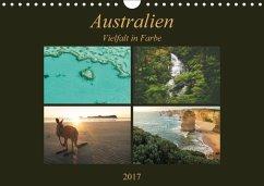 9783665033385 - Wasilewski, Martin: Australien - Farbige Vielfalt / Ch-Version (Wandkalender 2017 DIN A4 quer) - Book