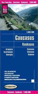 Reise Know-How Landkarte Kaukasus; Caucasus; Caucase; Cáucaso