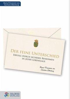 Der feine Unterschied (eBook, ePUB) - Prinzessin von Sachsen-Altenburg, Maria