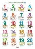 Fragenbär-Lernposter: Zahlen und Mengen von 1 bis 20