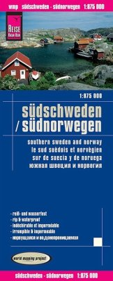 Reise Know-How Landkarte Landkarte Südschweden, Südnorwegen; Southern Sweden and Norway / Le sud suèdois et norvègien /S