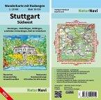 NaturNavi Wanderkarte mit Radwegen Stuttgart Südwest