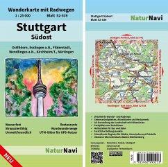 NaturNavi Wanderkarte mit Radwegen Stuttgart Sü...