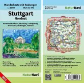 NaturNavi Wanderkarte mit Radwegen Stuttgart Nordost