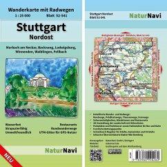 NaturNavi Wanderkarte mit Radwegen Stuttgart No...
