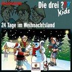 Die drei ???-Kids Adventskalender 2016 - 24 Tage im Weihnachtsland, 3 Audio-CDs