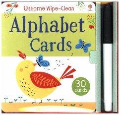 Usborne Wipe-Clean Alphabet Cards, w. pen