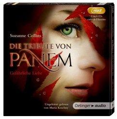 Gefährliche Liebe / Die Tribute von Panem Bd.2, 2 MP3-CDs (Mängelexemplar) - Collins, Suzanne