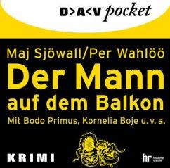 Der Mann auf dem Balkon, 1 Audio-CD (Mängelexemplar) - Sjöwall, Maj;Wahlöö, Per