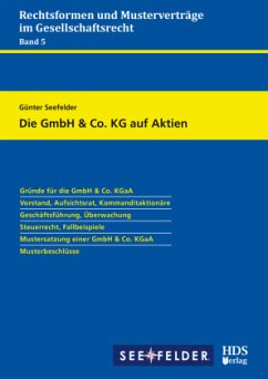 Die GmbH & Co. KG auf Aktien - Seefelder, Günter