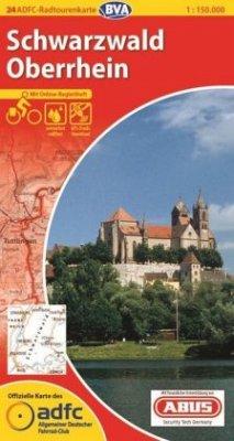 ADFC-Radtourenkarte 24 Schwarzwald Oberrhein 1:...