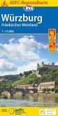 ADFC-Regionalkarte Würzburg Fränkisches Weinland mit Tagestouren-Vorschlägen, 1:75.000, reiß- und wetterfest, GPS-Tracks