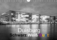 Duisburg Schwarz Weiß Bunt (Wandkalender 2017 DIN A4 quer)