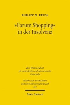 'Forum Shopping' in der Insolvenz (eBook, PDF) - Reuß, Philipp M.