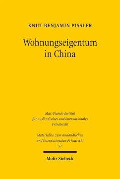Wohnungseigentum in China (eBook, PDF) - Pißler, Knut Benjamin