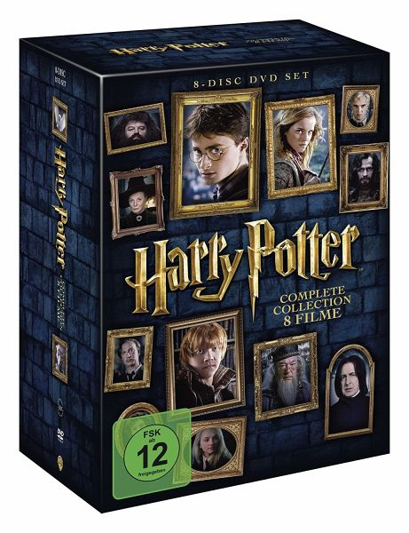 harry potter complete collection 8 dvds film auf dvd. Black Bedroom Furniture Sets. Home Design Ideas