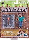 Minecraft - Sammelfigur - Steve mit Minecart