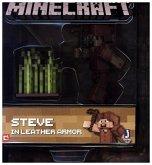 Minecraft - Sammelfigur Steve mit Lederrüstung