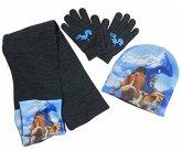 Ice Age 5 - Kollision voraus! 3er Winter-Set (Mütze/Handschuhe/Schal) Helden der Eiszeit,