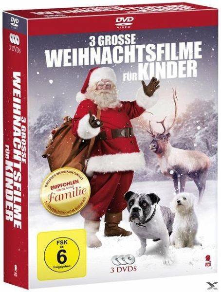 3 gro e weihnachtsfilme f r kinder 3 discs auf dvd. Black Bedroom Furniture Sets. Home Design Ideas