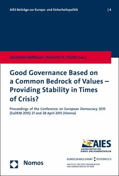 Good Governance Based on a Common Bedrock of Values - Providing Stability in Times of Crisis? (eBook, PDF)