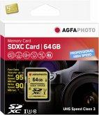 AgfaPhoto SDXC UHS I U3 64GB Professional High Speed Class 10