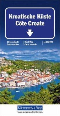 Kümmerly & Frey Karte Kroatische Küste / Côte Croate