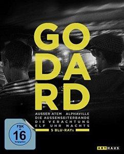 Godard : Die Verachtung - Alphaville- Die Außenseiterbande- Elf Uhr nachts - Außer Atem BLU-RAY Box