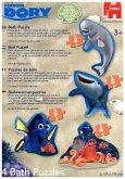 Jumbo 19630 - Disney Finding Dory, 4 in 1 Puzzle, 4 Badepuzzle, Badewannenpuzzle, 2/3/3/4 Teile
