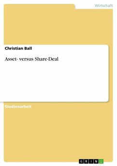 Asset- versus Share-Deal (eBook, ePUB)