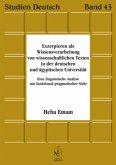 Exzerpieren als Wissensverarbeitung von wissenschaftlichen Texten in der deutschen und ägyptischen Universität