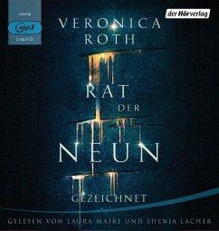Gezeichnet / Rat der Neun Bd.1 (2 MP3-CDs)