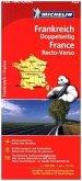 Michelin Karte Frankreich doppelseitig; France, recto-verso