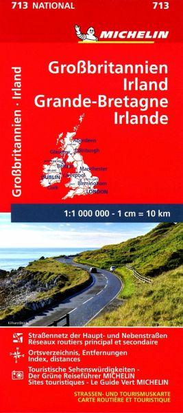 Sehenswürdigkeiten Großbritannien Karte.Michelin Karte Großbritannien Irland Grande Bretagne Irlande
