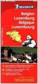 Michelin Karte Belgien Luxemburg; Belgique, Luxembourg
